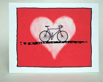 Bicycle love card.