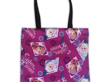 Frozen Reversible Tote Bag // Disney Tote Bag