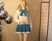 Nautical Mini Sailor Moon 60s white turquoise