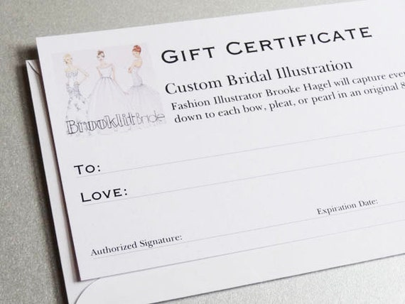Custom Illustration Gift Certificate