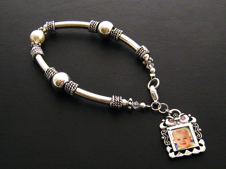 photo charm bracelet personalized photo bracelet grandmother