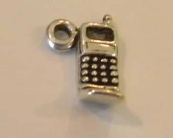 Flip Cell Phone Sterling Silver 925 charm