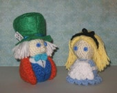 Alice & the Mad Hatter Amigurumi Dolls