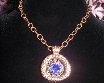 Swarovski Crystal Copper Pendant