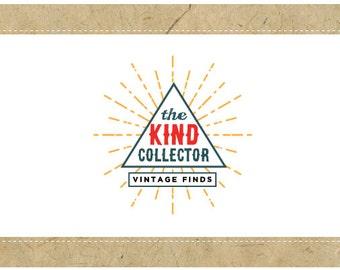Custom Logo Design - PreDesigned Logo - PreMade Logo - Vector Logo - OOAK Logo -  the KIND COLLECTOR Logo - Pyramid Logo - Vintage Logo