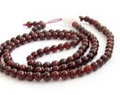 6mm Tibet Buddhist Garnet Stone Meditation Yoga 108 Prayer Beads Mantras Rosary Beaded Mala  ZZ209