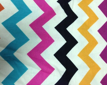 Chevron - Rainbow - Brother Sister Designs - Cotton Quilting Fabric BTY