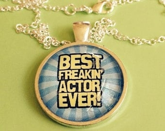 Theater Best Actor Pendant Necklace