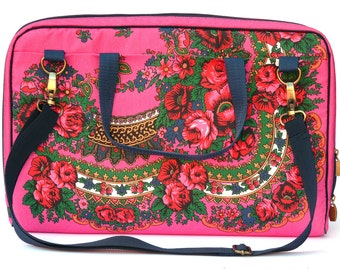 Custom Laptop Bag Made to Match you laptop, Pink Floral laptop bag