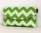 ORIGINAL BagEnvy GameGear - Two Tone Green Chevron with Pink - Nintendo 3DS XL - DSi XL - Clutch Wallet Carrying Case
