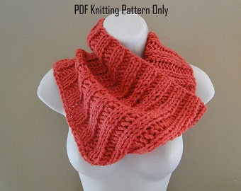Bulky Ribbed Cowl - PDF Knitting Pattern