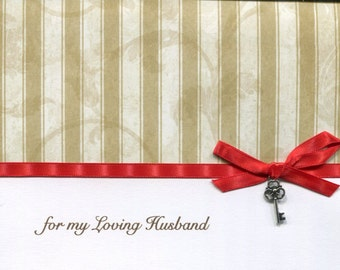 Wonderful Husband Valentine Card - Can be Personalized with Name