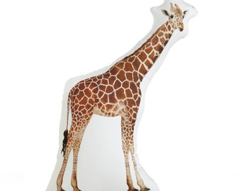 Giraffe Printed Pillow