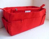 Purse organizer for Speedy 40- Bag organizer insert 15W x 7HX 7D in Rich Red