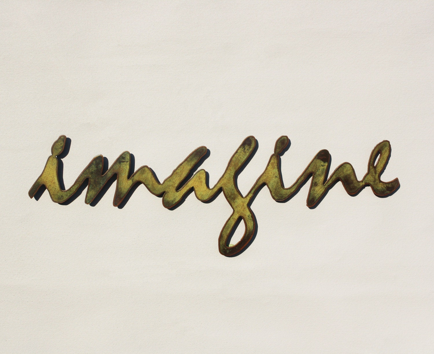 Imagine metal wall art 24 wide word wall art for Word wall art