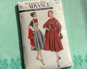 Vintage Advance 8113 Halter Weskit, Stole, and 4 Gore Skirt Sewing Pattern Bust 32