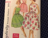 """Reserved Vintage Simplicity 3463 Back Wrap Dress Sewing Pattern 36"""" Bust"""