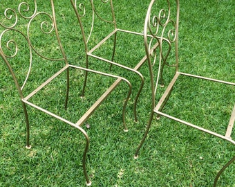 Iron Garden Furniture Vintage vintage wrought iron patio furniture   etsy