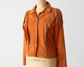 1980s Char & Sher jacket,  vintage southwestern leather jacket