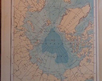 """HUGE XL World Physical Maps U PICK 1, 2 Page 15"""" x 10"""" each page Beautiful Aged Hardy Paper  Mellow Colors Countries World Regions & Topics"""