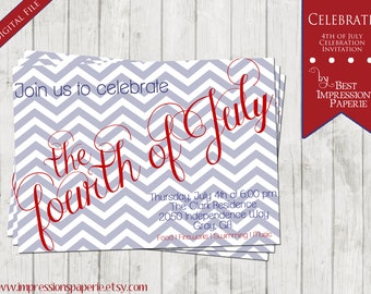 Celebrate - A Customizable 4th of July Party Invitation