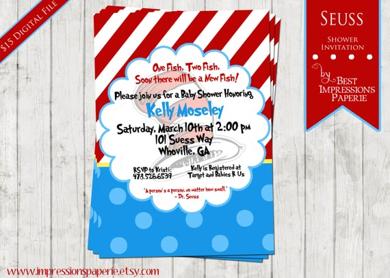 Seuss - A Customizable Baby Shower Invitation
