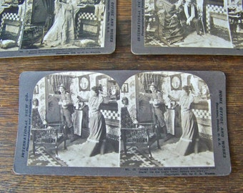 Antique Stereoview Cards 3D Card Joyous Homecoming Stereograph Cards Stereoscope 1902 Spanish American War