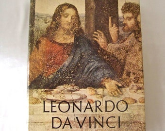 Vintage Leonardo Da Vinci Coffee Table Book 1956 The Life and Works of Leonardo Da Vinci Art Book