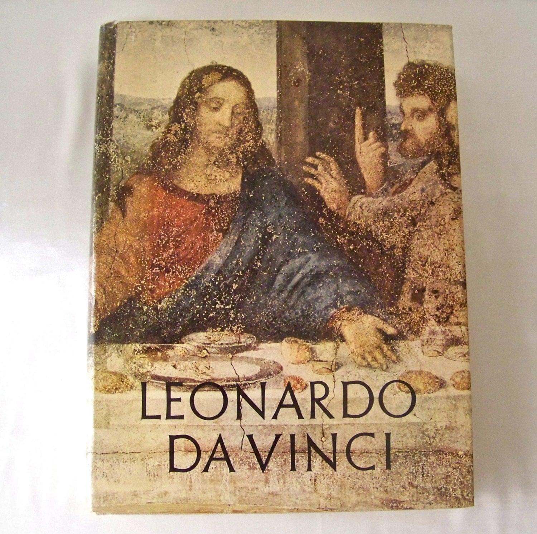 Vintage Leonardo Da Vinci Coffee Table Book 1956 The Life and