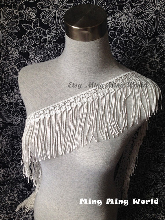 Macrame Lace Trim- 1 Yard Ivory Lace For Wedding dress, Hand made,Costume Design,Home Design(L10)