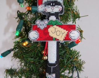 3D Joy Kitty Cross Stitch Ornament