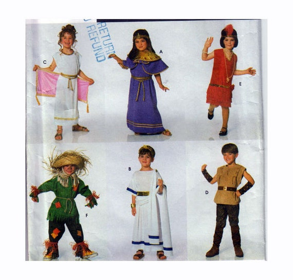 Mccall S 3514 Greek Roman Gown Toga Costume Sewing Pattern: Childrens Costumes Greek Goddess Cleopatra Flapper Scarecrow