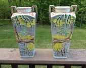 Pair of Painted Japanese Vases
