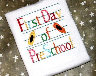 First Day Of Preschool Shirt - First Day of Preschool Dress, Back To School Shirt, Preschool Shirt, 1st Day of School, Back To School Outfit
