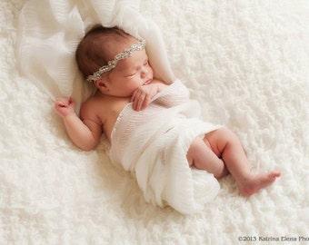 SPARKLE - baby rhinestone headband - Newborn Headband - baby photo props, baby photography