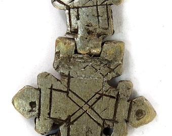 Ethiopian Coptic Cross Pendant Hinged African 86460 SALE WAS 12