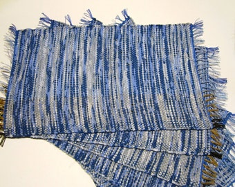 6 Handwoven Placemats - 10.63'' x 17.32''
