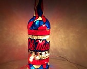 Ole Miss Bottle Light Upcycled Hand painted Lamp