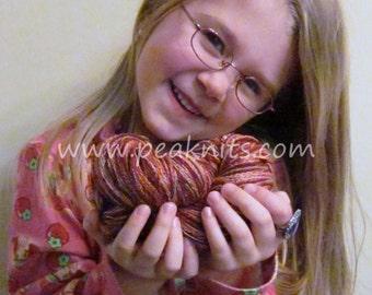 "Yarn - Cotton, Bulky, 100 yards (300 feet) ""Rose Garden"" - Red, Orange, Yellow, and Pink Multi Strand Yarn"