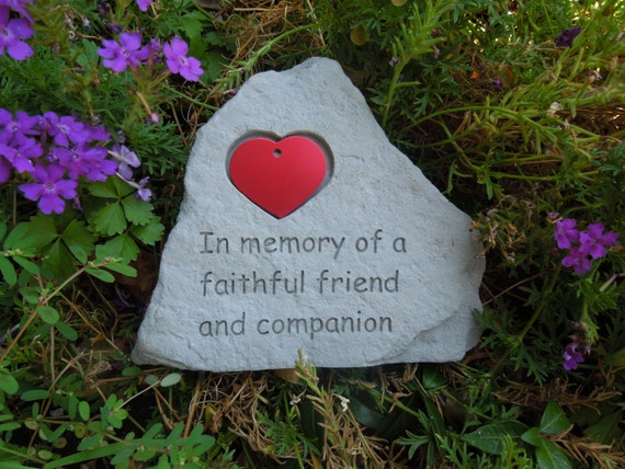 Waterproof Pet Memorial Stone fits a heart tag