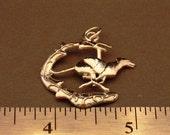 Greyhound  5 g Sterling Silver Pendant