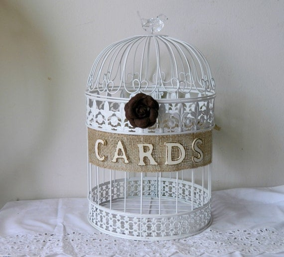 Birdcage For Wedding Gift Cards : Items similar to Bird Cage Wedding Card Holder Wedding Gift Cards ...