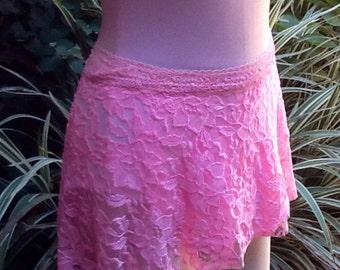 Ballet/Dance Wrap Skirt Large Pink Lace