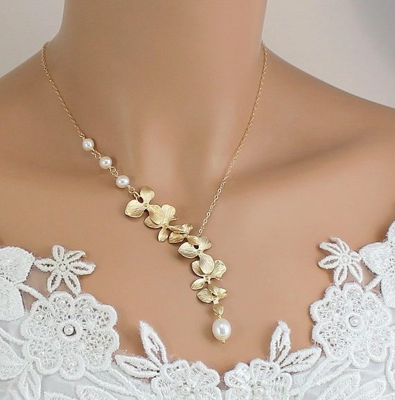 Wedding Jewelry Gift For Bride : ... Wedding Jewelry, Bride, Bridesmaids Gift, Unique Wedding Necklace