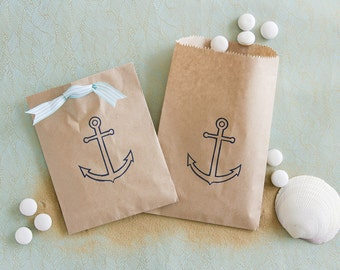 Anchor Favor Bags - Nautical Favor Bags - Nautical Wedding Favors - Nautical Party Favors - Beach Wedding - Destination Wedding Favors