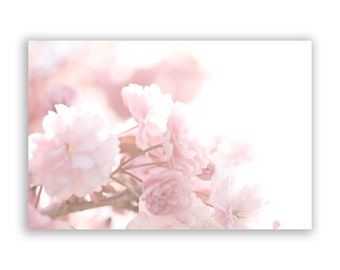 Floral Photography - dreamy pastel decor, pink and white, nursery wall art, flowers, pale blossoms, feminine decor - Fine Art Photograph