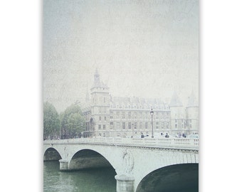 Paris Photography, River Seine, Paris decor, Paris Bridges Paris Wall Art, Paris bridge photo, Seine, aqua decor - Fine Art Photograph