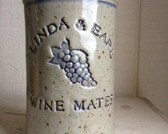 Personalized Stoneware Wine Cooler