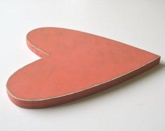 Wooden Heart - 12 inch heart