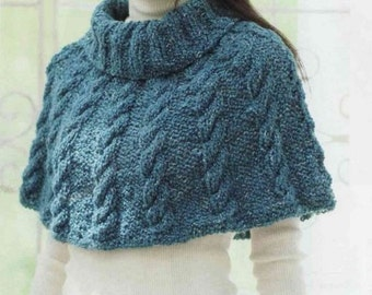 Hand knitted cozy poncho